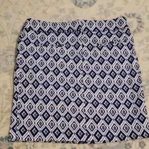 Navy ikat work skirt size 6